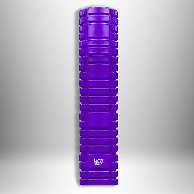 61cm Grid Foam Roller Trigger Point Gym Pilates Massage Physio Injury Yoga Purpl