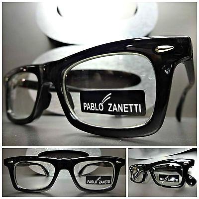 60's Mens Fashion (Mens Women CLASSIC VINTAGE 60's RETRO Clear Lens EYE GLASSES Black Fashion)