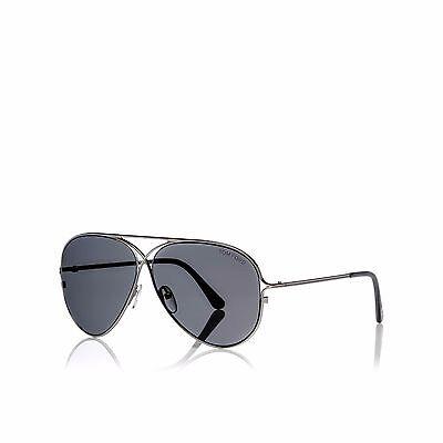 Authentic Tom Ford Tom N.4 14C Private Collection Aviator Ruthenium Sunglasses