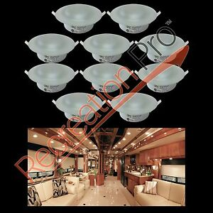 10 pack of itc 81232 overhead 4 5 recessed halogen light 12 volt rv luminaire. Black Bedroom Furniture Sets. Home Design Ideas