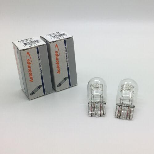 2 x Autolamps 380W W21/5W Capless Brake Stop & Tail Light Bulb 580 12v 21/5w