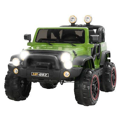 12V Kids Ride on Cars Electric Battery Power Wheels Remote Control 2 Speed Green