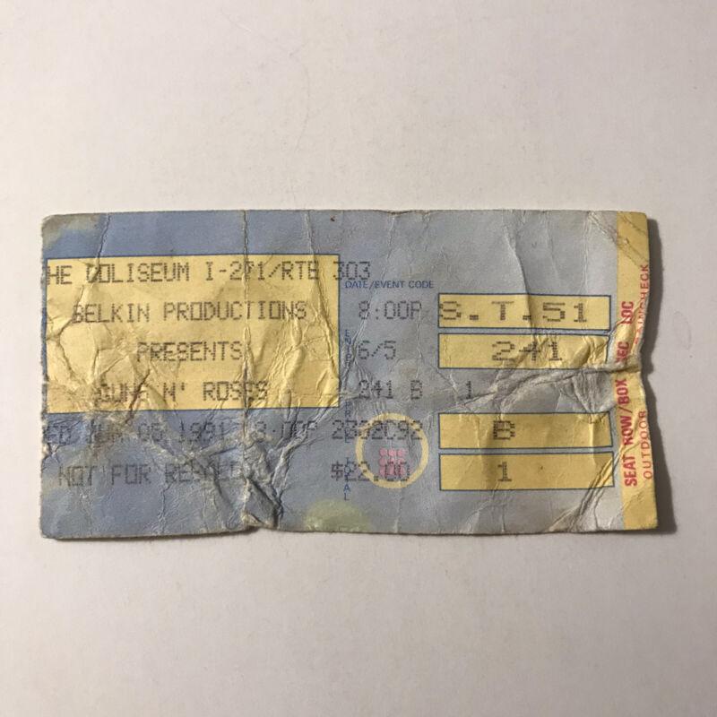 Guns N Roses The Coliseum Ohio Concert Ticket Stub Axl Slash Vintage June 1991