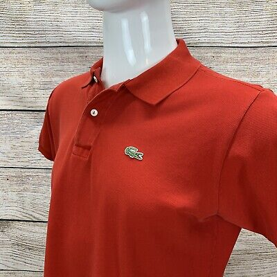 Lacoste Men's Solid Red Size 5 Polo Shirt