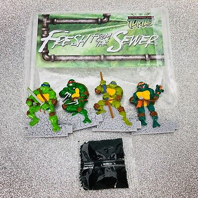 Vtg TMNT Teenage Mutant Ninja Turtles Cake Topper Decoration Fresh From Sewer - Teenage Mutant Ninja Turtles Cake Decorations