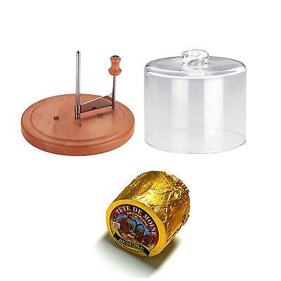 Set Käsehobel ganzer Laib Tete de Moine Reserve Glashaube Käsehobler Luxus