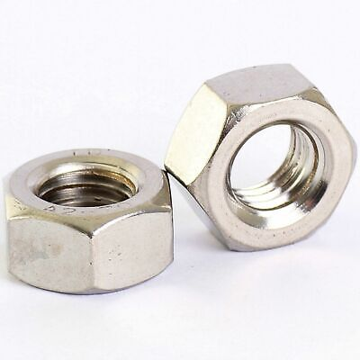 304 Stainless - Left Hand Thread Hex Full Nuts M4 M5 M6 M8 M10 M12 M16 M18 M20 18 Left Thread