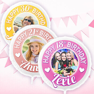Birthday Balloons Personalised with your Photo & Name Large 22