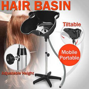 Large Mobile Portable Salon Hair Washing Basin Hairdressing Shampoo Bowl Drain