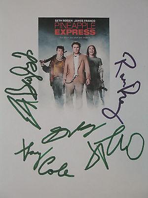 Pineapple Express Signed Movie Script Seth Rogen James Franco Gary Cole Reprint
