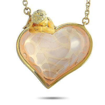 Carrera y Carrera Love 18K Yellow Gold 10.96 ct Rose Quartz Necklace