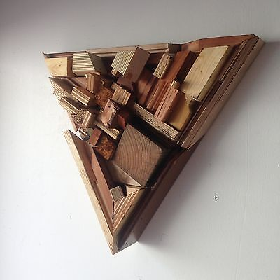 """Diffuser City's 18"""" Triangle WOOD acoustic sound diffuser panel 2D QRD type"""