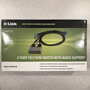 D-Link 2-port switch with audio support (KVM-121)