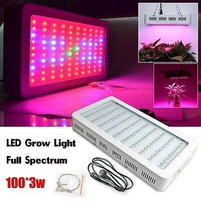 LED 300W Grow Light Full Spectrum Growing Lamp Indoor Veg Flower Plants Panel
