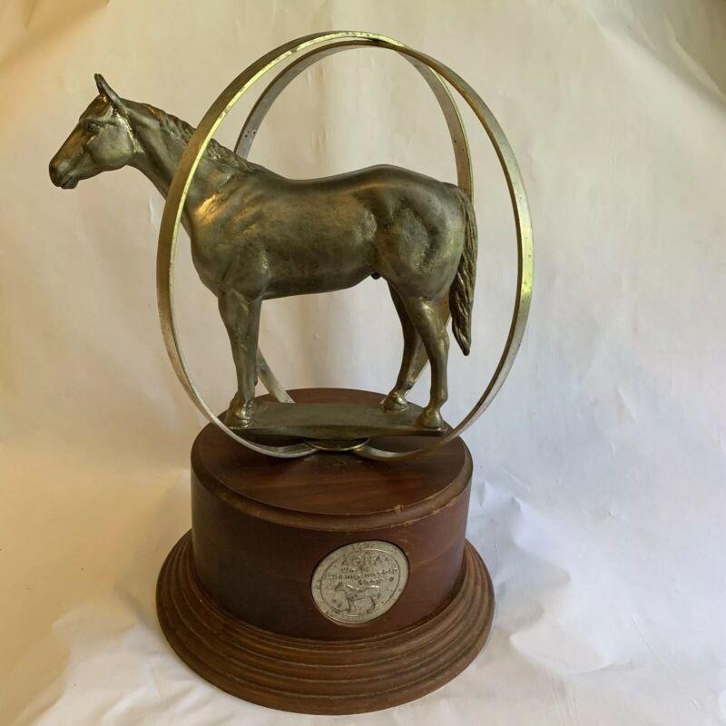 AQHA World Championship Quarter Horse Show Plated Globe Trophy 1997