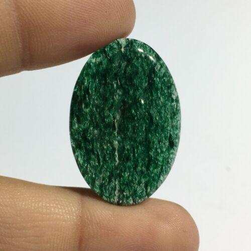 Natural Green Aventurine Cabochon Loose Gemstone Oval Shape 27.5 Cts RU-1