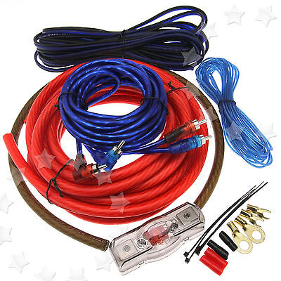 2000w car amplifier rca audio 4 gauge wiring 100amp agu fuse cable 2000w car amplifier rca audio 4 gauge wiring 100amp agu fuse cable kit z007 uk