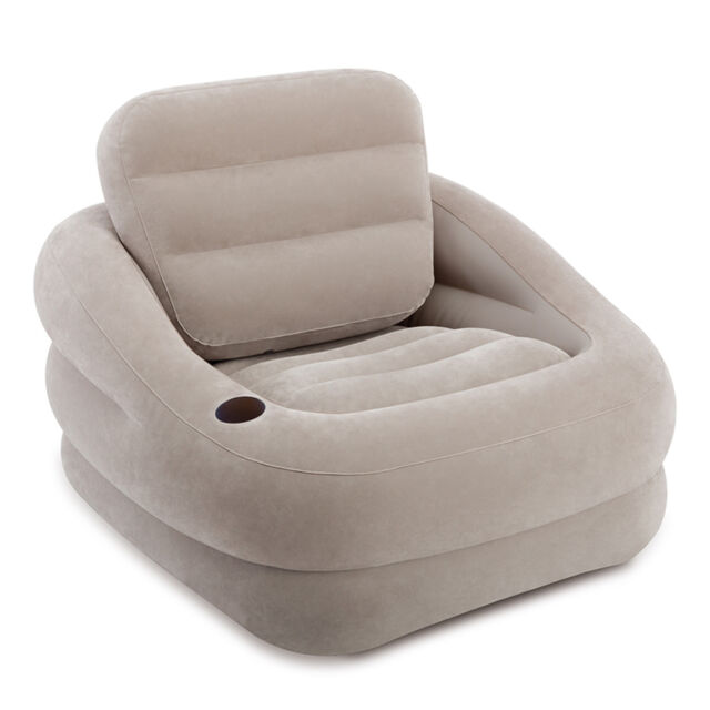 intex inflatable furniture. Intex Inflatable Khaki Accent Chair With Cup Holder And Water Base   68587EP Furniture E