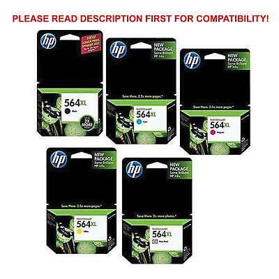 Photo Ink Set - New 5 Genuine HP 564 XL Color Set B, Photo B,C,M,Y Ink Photosmart  C6300 C6388