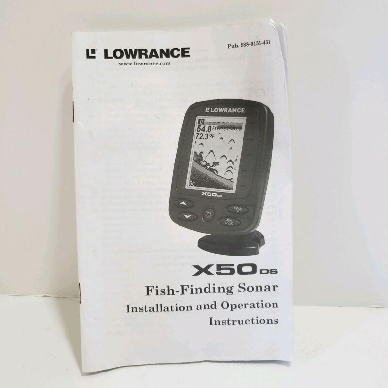 Lowrance X50 DS Fishfinder Depthfinder Fish Finder Manual