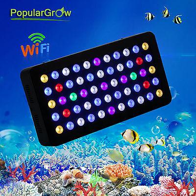 LED Aquarium Light Wifi 165W Full Spectrum Marine Lamp for Tank Coral Reef Fish