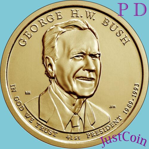 2020 P&D GEORGE H.W. BUSH GOLDEN PRESIDENTIAL DOLLARS SET UNCIRCULATED