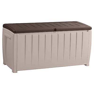 Novel 90 Gallon Outdoor Storage Box - Beige/Brown - Keter