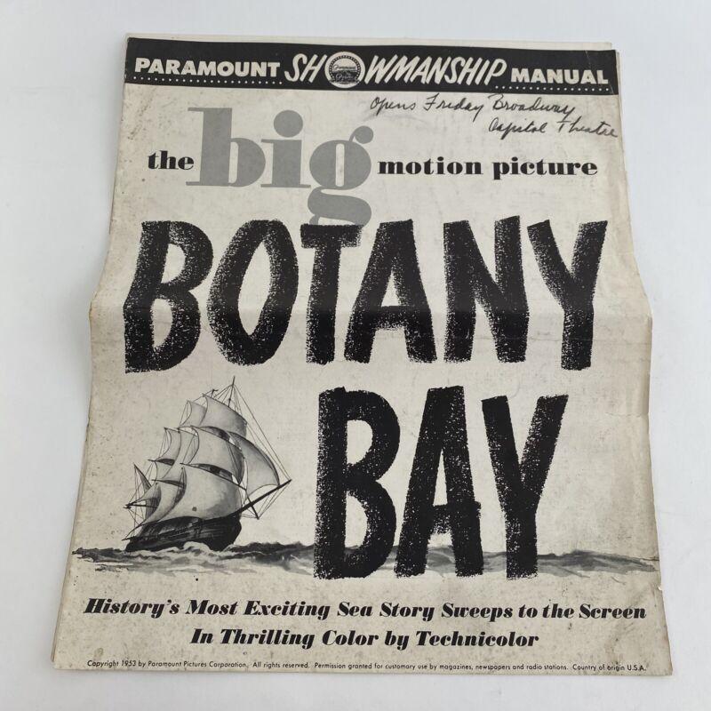 Vintage Movie Pressbook Botany Bay 1953 Alan Ladd James Mason Patricia Medina