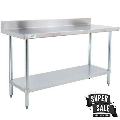 Regency 30x72 18ga Stainless Steel Commercial Work Table 4 Backsplash Shelf