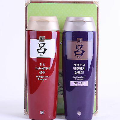 New KOREA AMOREPACIFIC Ryo Hair Loss Prevention  Damage Care shampoo 180mlx2 pcs