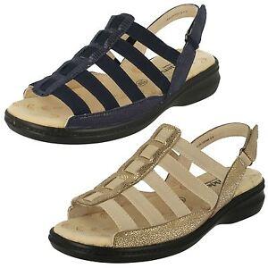 Ladies-Padders-039-Lesley-039-luccicante-oro-sandali