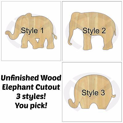 Unfinished Wood Elephant Door Hanger Laser Cutout, Door Decor, Ready to - Elephant Cutout