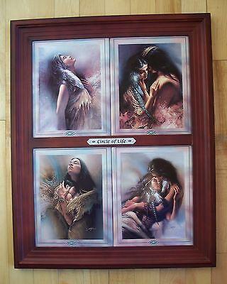 CIRCLE OF LIFE 4 Plate Set + Frame Indian Native American + Sacagawea CookbooK