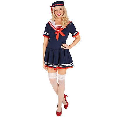 Frauenkostüm Marine Matrose Kapitän sexy Matrosin Damen Kostüm Karneval (Damen Sexy Matrose Kostüm)