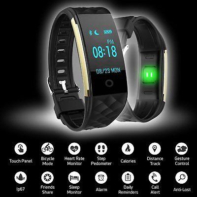 Wasserdicht Bluetooth Smartwatch Armbanduhr für IOS Android Samsung Fitness