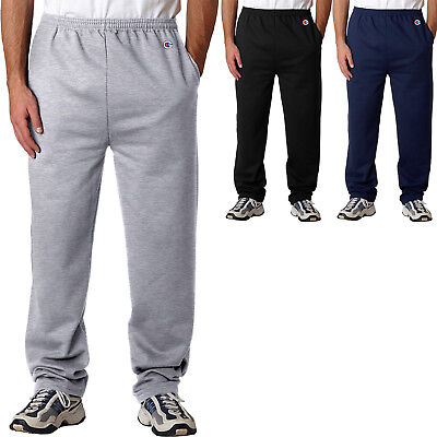 - Champion Mens Sweatpants with Pocket and Open Bottom AND Pockets  S-2XL