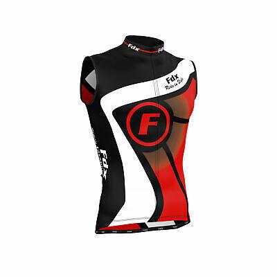 FDX 1020 Ärmelloses Herren Fahrradtrikot Schwarz-Rot