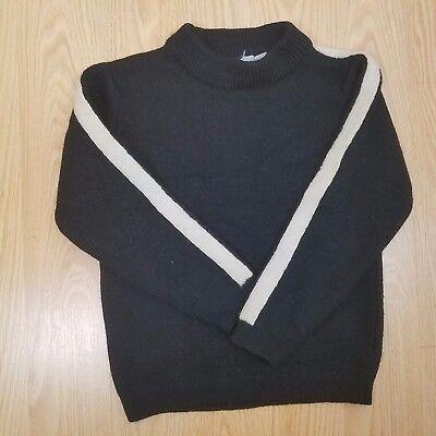 Vintage Mr. D Fashions 1960'S Unisex Children's 100% Wool Crewneck Sweater Sz 8