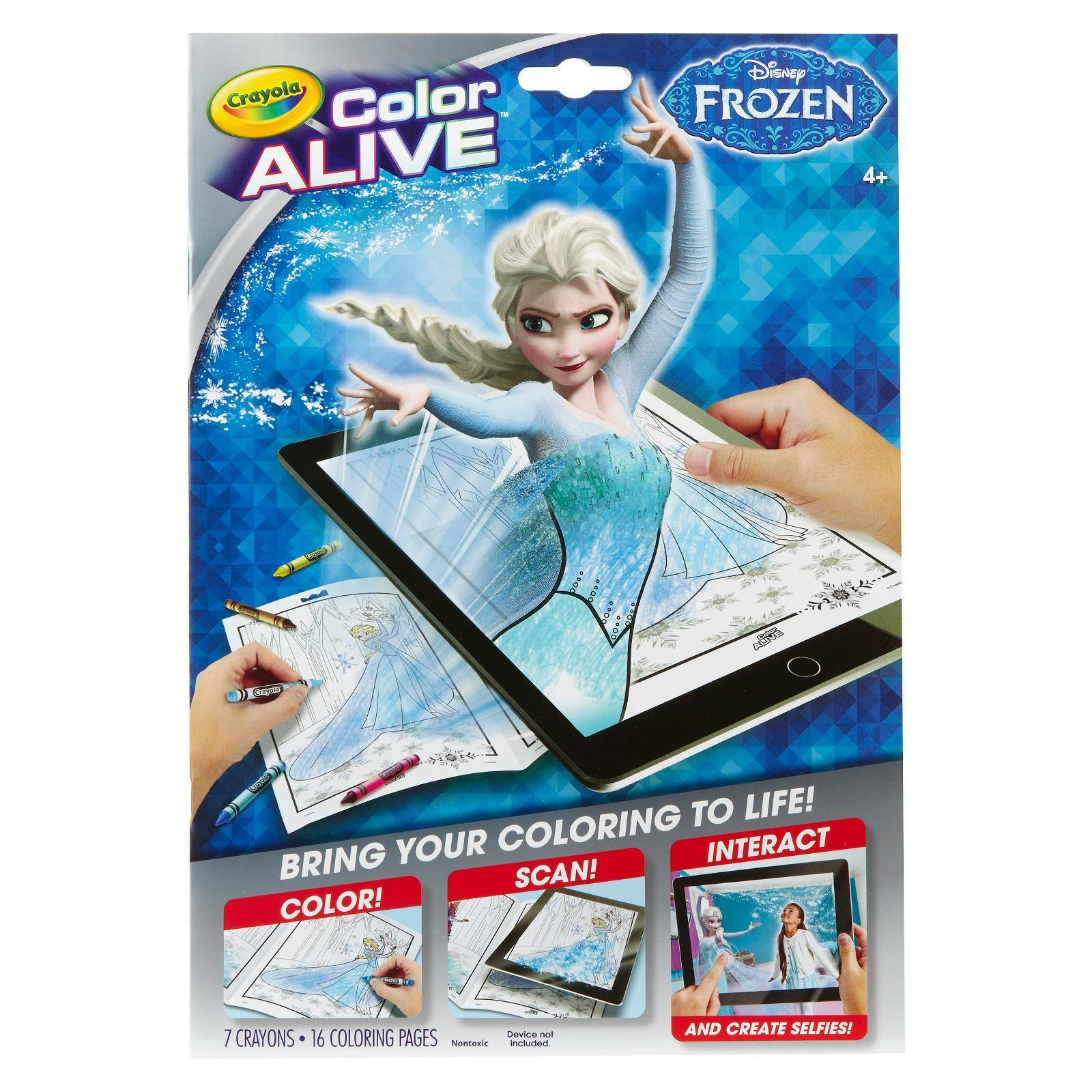 Crayola Color Alive Disney\'s Frozen 16 Coloring Pages and 7 Crayons ...