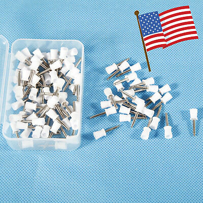 100pcs Dental Rubber Prophy Angle Cup Tooth Polish Brush Latch Type White-1 Drho