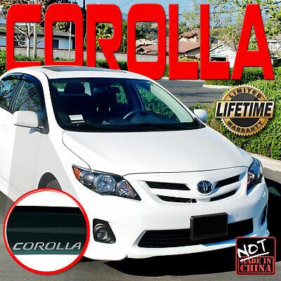 Window Visor Fits 2008-2013 Toyota Corolla Sedan Side Door Deflector Vent (Side Shade Sunglasses)