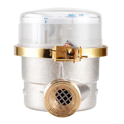 """как выглядит Water Meter Water Flow Meter 3/4"""" Thread Cold Water Meter for Garden and Home фото"""