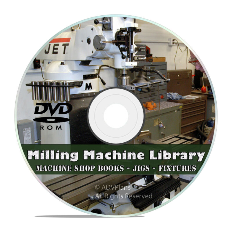 Milling Machine Operation Library Screw Making Jigs, Fixtures, Machinist CD V45