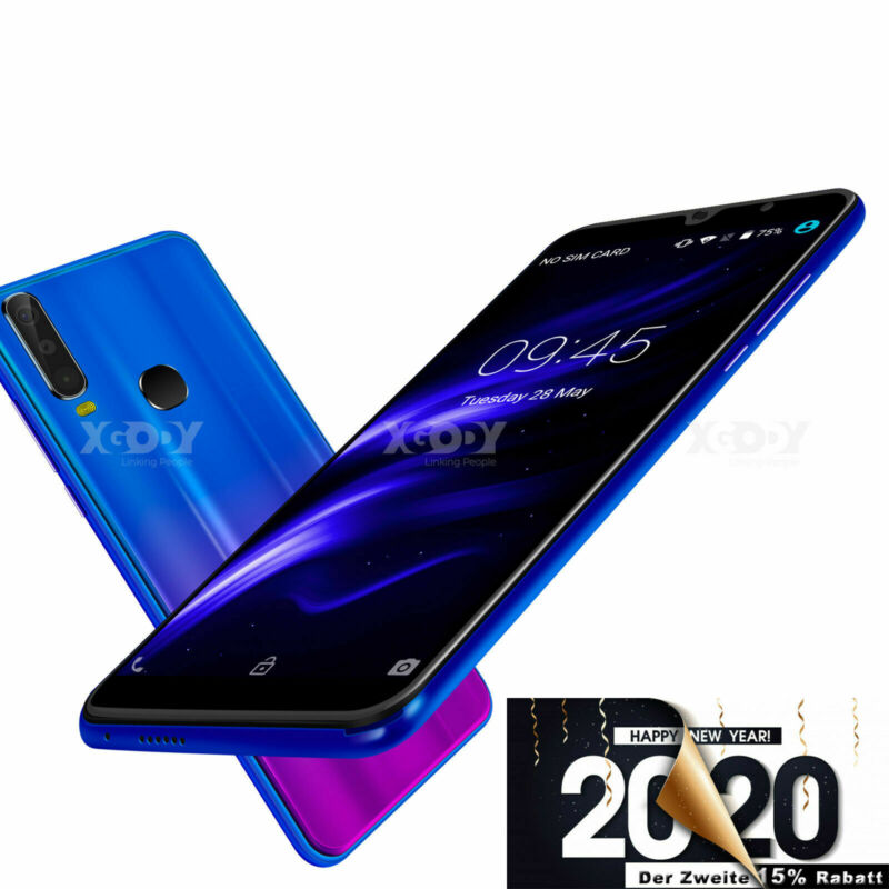 """Android Phone - Cheap Unlocked 6.0"""" Android 9.0 Smart Mobile Quad Core Dual SIM 16GB A70 Phone"""