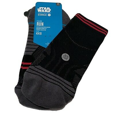 Stance Men Fusion Run Socks Star Wars Sith Crew One Pair US Large 9-12 Black