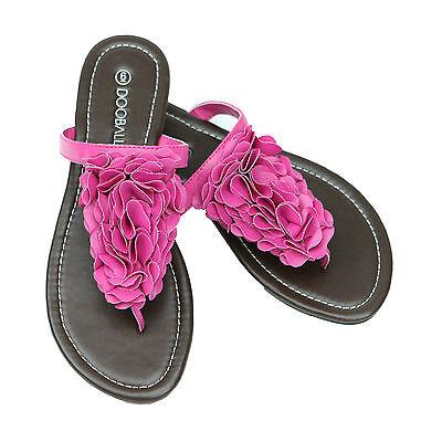 Summer Flip Flop Sandals - SUMMER FLOWER BLOSSOM FLAT FLIP FLOP SANDALS