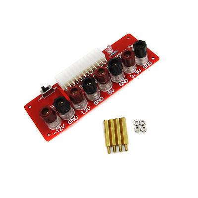 24Pins ATX Benchtop Power Socket Computer PC Power Supply Board Breakout Adapter