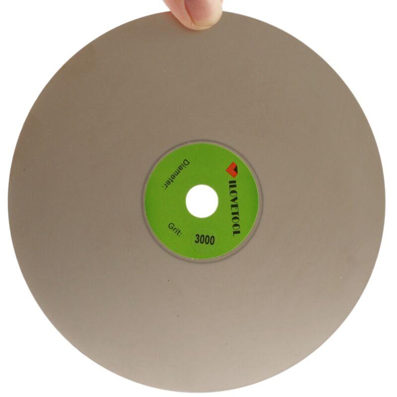 "Grit 3000 Diamond coated 6"" inch Flat Lap wheel Lapidary lapping polishing disc"
