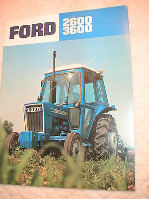 Ford 2600 And 3600 Cab Model Farm Tractor Color Brochure