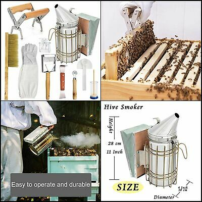 Ltlr Beekeeping Supplies Honey Tools Starter Kit Set Of 10 Hive Smoker Equipment